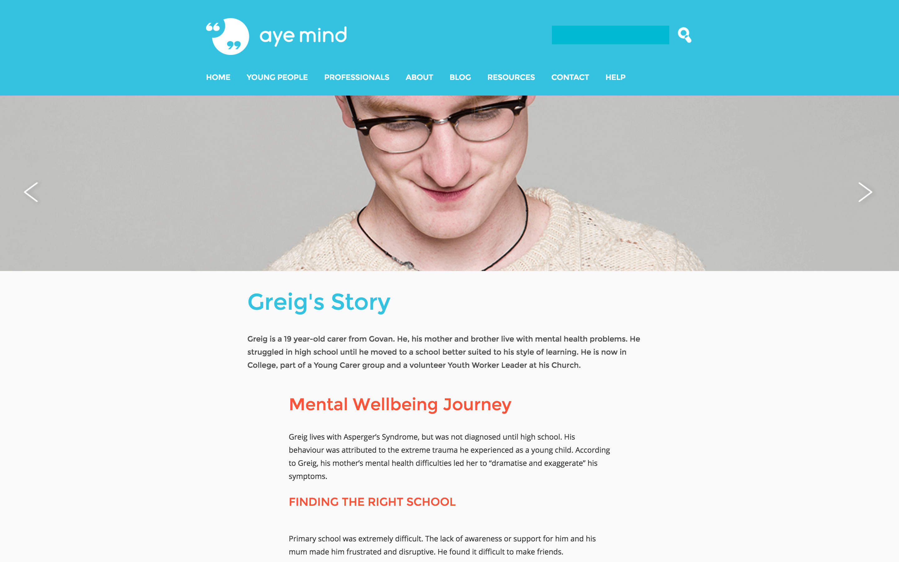 Aye Mind - Young Person Story (Report)