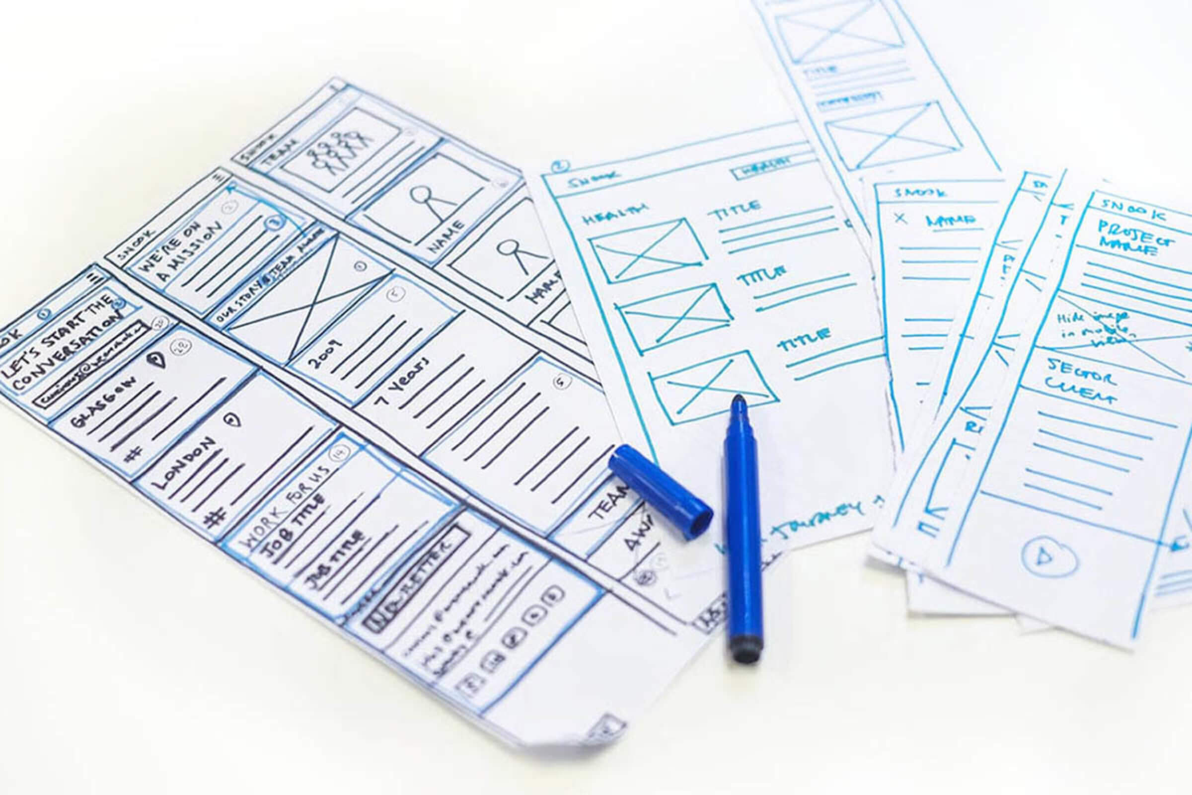 Sketching mobile wireframes