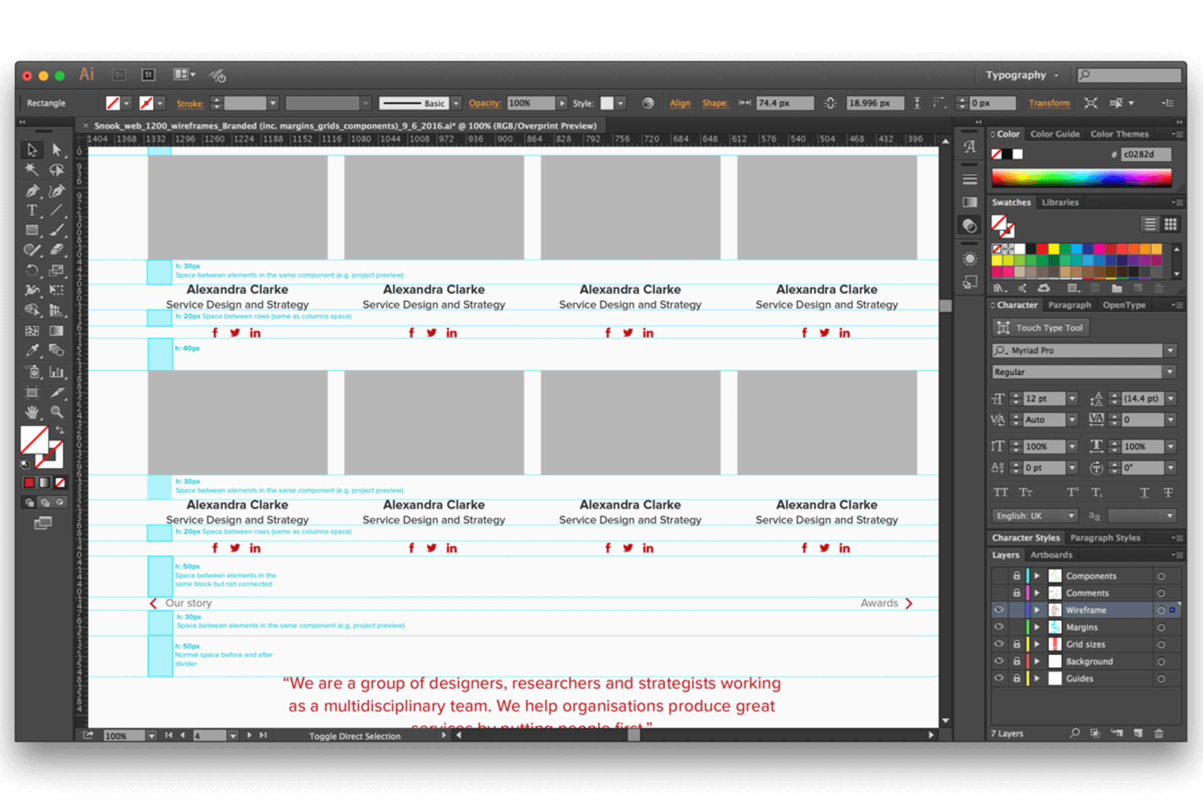 Designing mockups on Illustrator