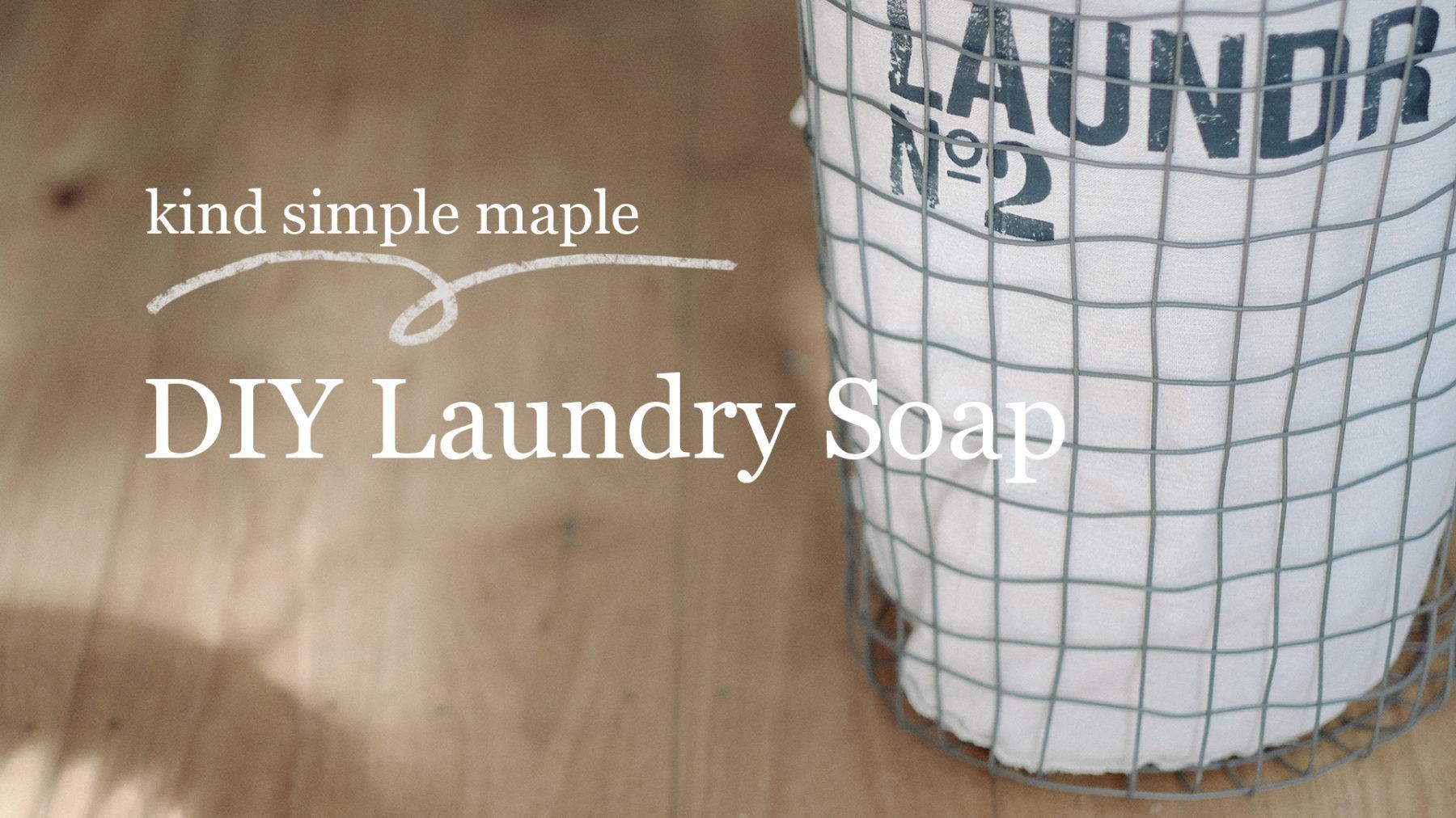 Zero Waste Laundry Soap